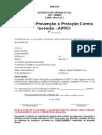 Anexo e - Alvará de Prevenção e Proteção Contra Incêndio - Appci