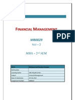 MB0029 - Financial Management - Completed