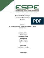 Elaboracion Del Ácido Sulfurico a Nivel Industrial_expo