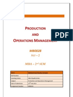 MB0028 - Production and Operations Management - Completed