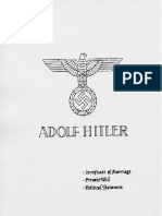 Hitler Marriage Will Political Testament