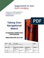 BdB KAM SOP 2017 001 Taking Over Navigational Watch