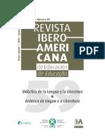 Revista Iberoamericana de Educacion Didactica de La Lengua y La Literatura