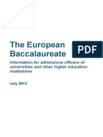 Information on the European Baccalaureate