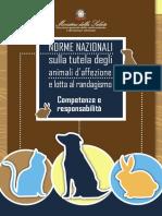 Norme Nazionali sulla tutela degli animali d'affezione e lotta al randagismo