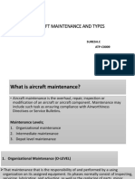 Aircraft Maintenance and Types