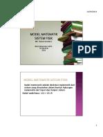 2.Penyajian Model Matematik