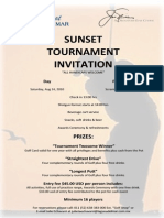 Laguna Del Mar - Golf Sunset Tournament Invitation