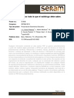 Patología Esplénica, Todo Lo Que Un Radiíologo Debe Saber