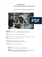 Cartel Jornadas Rudolf Steiner