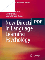 Christina Gkonou, Dietmar Tatzl, Sarah Mercer Eds. New Directions in Language Learning Psychology