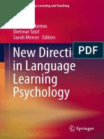 Christina Gkonou, Dietmar Tatzl, Sarah Mercer Eds. New Directions in Language Learning Psychology