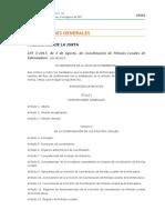 Ley 17/2017 Extremadura Coordinación Policias Locales