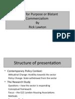 Development Programmes- Rick Lawton