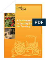 Landowner's Guide to Leasing Land for Farming