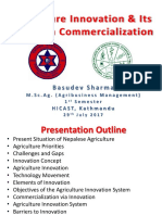 Agriculture Innovation Term Paper HICAST