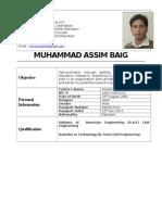 Muhammad Assim (CW & Design Consultant)