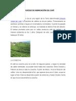 El Proceso de Fabricación Del Café ingles y español