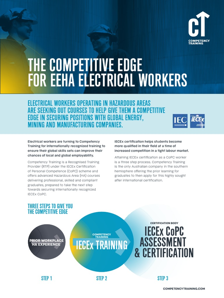 Competency Training Capability Iecex 20160609 Electrician