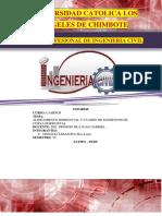 Informe de Caminos 003 Alineamiento Horizontal y Cuadro de Elementos de Curva Horizontal