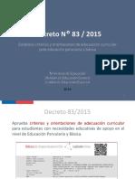 Presentación Decreto 83 PIE 2016