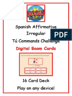 Preview Spanish Affirmative Irregular Tú Commands Challenge Boom Cards.pdf