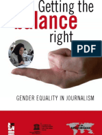 Getting the Balance Right Gender Equality in Journalism