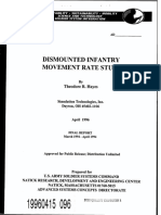 Dismounted Infantry Movement Rate Study