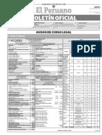 Diario Oficial El Peruano, Edición 9776. 03 de agosto de 2017