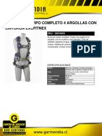 Arnes de Cuerpo Completo 4 Argollas Con Cinturon Exofitnex
