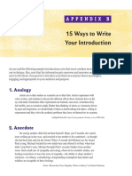 15 Ways to Write an Introduction