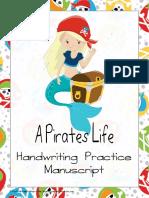 Pirate Manuscript Handwriting Practice