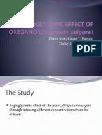 Hypoglycemic Effect of Oregano (Origanum Vulgare)