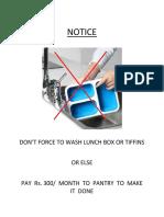 Notice Pantry