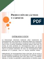 Produccion de Lacteos y Carnicos.