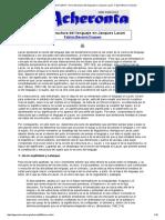 Acheronta 28 (Febrero 2014) - De La Estructura Del Lenguaje en Jacques Lacan - Fabian Becerra Fuquen