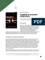 La Gestion de Proyectos Catastroficos