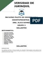 SELLANTES-ODONTOPEDIATRIA