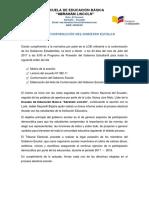 Acta Gobierno Escolar