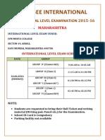 International Level Schedule Mumbai