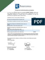 Certificado de Participación Accionaria