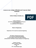 Analysis and Design of Reinforced Concrete Shell Elements Osman Burkan Isgor MSc Thesis