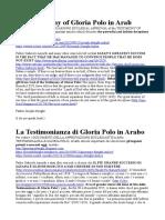 The Testimony of Gloria Polo in Arab