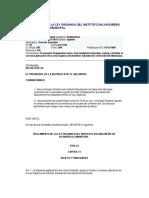 Reglamento de La Ley Orgánica de ISDEM