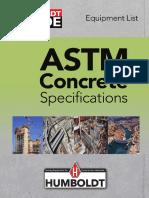 Humboldt Concrete ASTM Specs