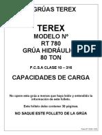 Tabla de Carga Terex RT 780