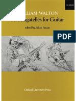 William Walton - Five Bagatelles for Guitar Edi