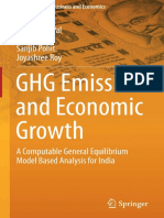 Barun Deb Pal, Vijay P. Ojha, Sanjib Pohit, Joyashree Roy Auth. GHG Emissions and Economic Growth a Computable General Equilibrium Model Based Analysis for India