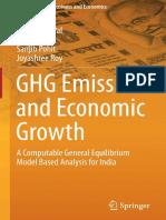 Barun Deb Pal, Vijay P. Ojha, Sanjib Pohit, Joyashree Roy Auth. GHG Emissions and Economic Growth a Computable General Equilibrium Model Based Analysis for India