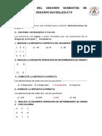 Evaluacion Del Segundo Quimestre de Matematica Segundo Bachillerato